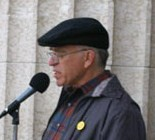 Howard Davidson addresses the 2008 Annual Walk for Peace in Winnipeg, June 14, 2008.